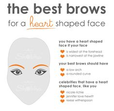 5 Perfect Eyebrow Shapes For Heart Shaped Face   Heart ...