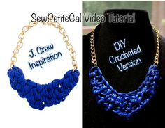Knotted Crescent Necklace DIY Video Tutorial