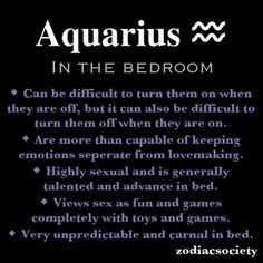 Aquarius in the bedroom.