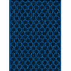 Marimekko Sulhasmies Blue Cotton Fabric - Click to enlarge