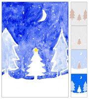 Tinted Christmas Tree Painting