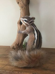 Needle Felted ChipmunkFelted AnimalHandmade