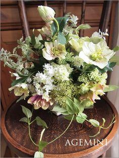 アーティフィシャルのクラッチブーケ。 |Natural green wedding bouquet|AGEMINI