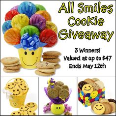 All Smiles Cookie Giveaway http://www.cookiegiftbaskets.com/gram/2013/04/29/all-smiles-cookie-giveaway-3-winners/#comment-3553