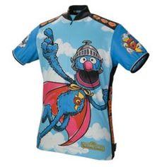 Super Grover, Cookie Monster, B & E, Oscar- Sesame Street cycling jerseys from Pearl Izumi