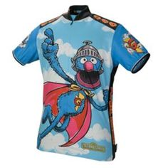 Super Grover, Cookie Monster, B & E, Oscar- Sesame Street cycling jerseys from Pearl Izumi