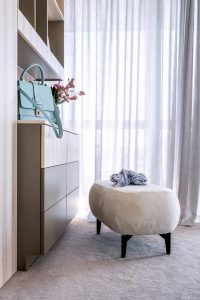 pouffe designed for Cloudy I. - bed designed and produced for VTower project - urban living in Prague. Decor, Bed Design, Curtains, Bed, Pouffe, House, Home Decor, Urban Living