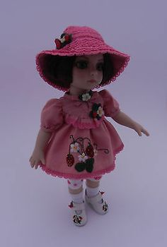 "OOAK ""Fruits Rouge"" Outfit for 10"" Patsy Tonner Doll 