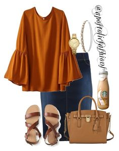 """""""Apostolic Fashions #1829"""" by apostolicfashions on Polyvore featuring Aéropostale, Oasis, Charlotte Russe and MICHAEL Michael Kors"""