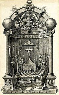 Freemasonry illustration.