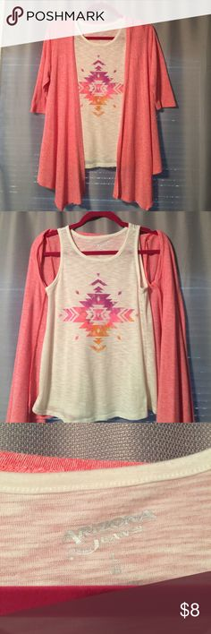 Arizona Two Piece (Girls) Arizona Two piece. Tank top with cardigan. Quarter sleeve. Size 14 large. (Girls) Arizona Jean Company Other