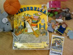 Creating CINDERELLA props to help with retelling standards: K.RL.1, K.RL.2, K.RL.3 (key details, characters, setting and events)