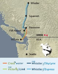Transportation between Vancouver and Victoria including YVR Downtown Vancouver, Vancouver Island, Chartered Bus, Haida Gwaii, Travel Route, Bus Coach, Alaska Cruise, Round Trip