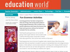 This website provides lesson plans on topics such as grammar, poetry and vocabulary. These are about synonyms, verbs, nouns and more.