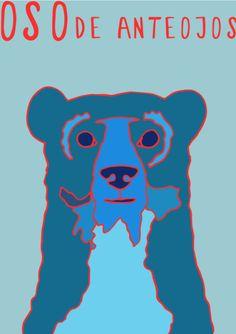 My Illustration Blog AnimalesDelMundo AnimalesDelMundoEcuador Ecuador animales animals illustration ilustración Oso de Anteojos Bear