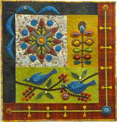 sue spargo quilt, love the colors!!!!!