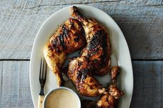 Kevin Gillespie's Barbecue Chicken with Alabama White Barbecue Sauce recipe on Food52