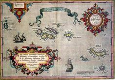 Azores old map (Portugal) Old Maps, Antique Maps, Vintage Wall Art, Vintage World Maps, Ancient Maps, Ancient History, Dom Manuel, Las Azores, Terceira Azores