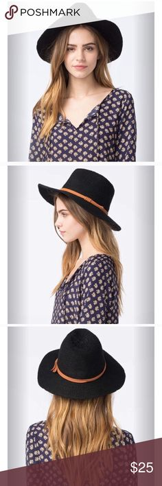 Knit fedora Sweater knit fedora. Perfectly paired with a lightweight bell sleeve blouse for a Saturday night or a Sunday brunch. Floppy hat design and adorned with a faux suede cord band. Wipe with a damp cloth. Edc coachella festival Accessories Hats