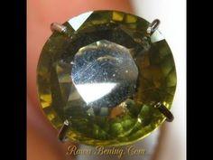 Batu Permata Zircon Hijau Kekuningan Round Cut 3.08 carat