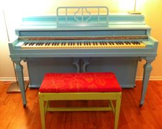 painted piano. fun colors.