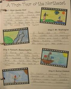 Regions tour with scrapbooks. Kids take tours by pretend boat or plane, etc. They receive souvenirs and are responsible for a scrapbook to show their learning about the US regions! Social Studies Projects, 3rd Grade Social Studies, Social Studies Classroom, Social Studies Activities, Teaching Social Studies, Classroom Fun, History Classroom, Classroom Projects, Us Geography
