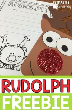 This Rudolph craft is so cute! Pair it with a poem for a quick bulletin board display for the month of December. Download all the templates for free!