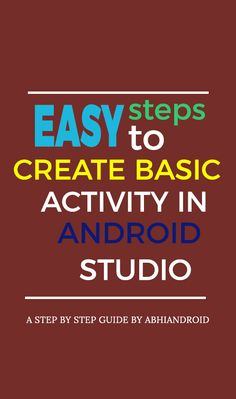 Basic activity creates a simple app activity with an app bar and a floating action button in Android Studio. It acts as a starting point for your project by providing commonly used UI components. It includes: – AppBar – FloatingActionButton Studio App, Studio Layout, Ui Components, Android Studio, Simple App, Tech Gadgets, Android Apps, Mobile App, Action