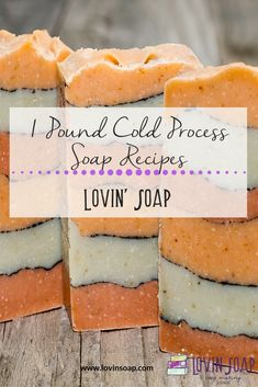 Cold Process Soap Recipes for Soap Makers - These are all 1 pound oil recipes with a superfat of (aside from the one bar recipe) - Soap Making Recipes, Homemade Soap Recipes, Cold Press Soap Recipes, Soap Making Supplies, Soap Maker, Glycerin Soap, Castile Soap, Soap Packaging, Goat Milk Soap