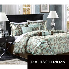 Get a luxurious night's sleep with this jacquard Madison Park comforter set. This set comes with everything you'll need to turn your bedroom into a sanctuary. The set's floral pattern is highlighted in two appealing color schemes to suit your tastes.