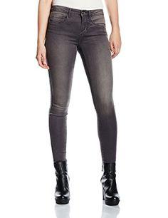 ONLY Damen Skinny Jeanshose Onlroyal Reg Sk Noos, Gr. 36/L30 (Herstellergröße: S), Grau (Medium Grey Denim)