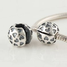 e44e7197e KT069 N Free Shipping 100% 925 pure Silver Clip And Clasp Charms Love heart  Silver beads Fits for Pandora Bracelet/ Necklace,hot-in Beads & Loose  Gemstones ...
