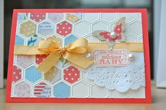 Stampin' Up! Card by Julie's Japes - Honeycomb crazy!