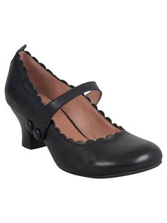 cb21bdd7bb62 A mary jane high heel with scalloped edges that s comfy enough for work all  day and