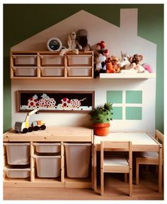 50+ Clever Playroom Storage Ideas You Won't Want To Miss #playroom #storage #ideas #diy #playroomstorageideasdiy Mommy Experts Share 50 Playroom Storage Ideas That Will Turn Your Child's Messy Play Space Into An Organized and Safe Play Haven For Kids. Small Playrooms Too. Ikea Playroom, Small Playroom, Playroom Organization, Playroom Design, Children Playroom, Ikea Kids Room, Organization Ideas, Ikea Wall, Small Kids Playrooms