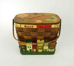 Vintage Caro Nan Basket Purse - 1964