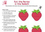 A Strawberry Shortcake birthday party game!