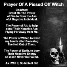 Prayer of a Pissed Off Witch Karma Spell, Which Witch, Witch Board, Magick Spells, Candle Spells, Witch Spell, Practical Magic, Pissed Off, Kitchen Witch