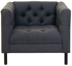cobble hill tribeca tufted chair with steel legs - deirdre/slate  from ABC Carpet & Home @ABC Carpet & Home