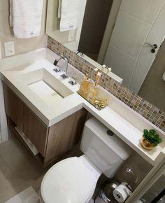 Último banheiro do ano com esse projeto moderno e elegante! Washroom Design, Bathroom Design Small, Bathroom Layout, Bathroom Interior Design, Rustic Farmhouse Decor, Amazing Bathrooms, House Design, Home Decor, Web Free