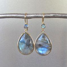 Labradorite Earrings  by Tangerine Jewelry Shop