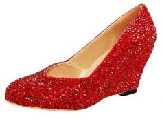 Can you please wear these????  Amazon.com: Honeystore Women's Crystal and Rhinstone Wedge Sheepskin Pump: Shoes
