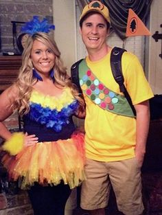 15 Fun, Unique DIY Halloween Cartoon Couples Costume Ideas | Russell and Kevin from UP