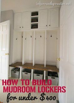Details of how to build mudroom lockers for less than $400