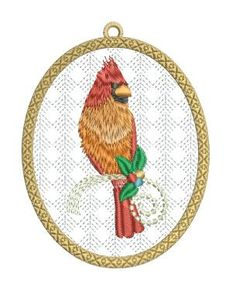 Christmas Cardinal Ornaments Christmas Gifts To Make, Christmas Ornaments, Cardinal Ornaments, Machine Embroidery, Rooster, Embroidery Designs, Projects, Inspiration, Pixies