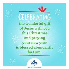 Whimsical Christmas - Celebrating - http://www.dayspring.com/ecardstudio/#!/single/388