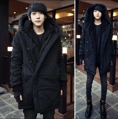 2017 Harajuku Brand Fashion Koren Warm Parka Winter Jacket Men Coat Mens Jackets And Coats Mens Long Winter Coats With Hood 3XXL