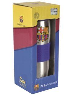 FC Barcelona 400ml kubek termiczny  • wykonany ze stali nierdzewnej i tworzywa • logo klubu – licencja FC Barcelona • silikonowa opaska • pojemność 400 ml • zachowuje temperaturę do 6 godz. • opakowanie w barwach klubowych