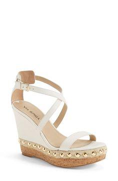 25daa3cc503882 Free shipping and returns on Via Spiga  Moss  Studded Platform Wedge Sandal  (Women