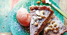 Cashew Tart with Guava Sorbet Recipe   Yummly Breakfast Dessert, Dessert For Dinner, Guava Recipes, Sorbet Recipe, Roasted Cashews, Meal Planner, Calorie Diet, Unsalted Butter, Tart